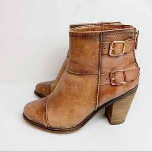Jessica Simpson Clarah Distressed Leather Bootie